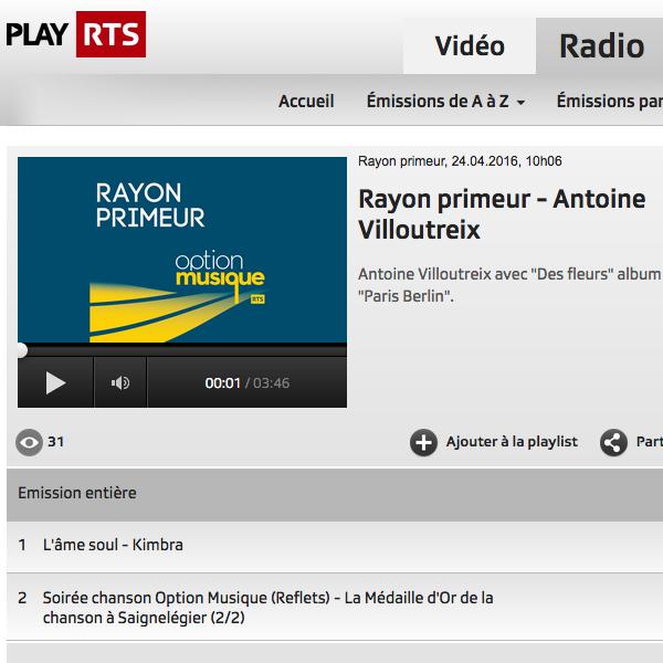 RTS Rayon Primeur (Suisse)